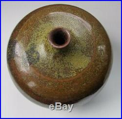 Fine American art pottery vase by Frans Wildenhain speckled multi-colored glaze