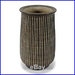 Fine Harrison Mcintosh California Studio Art Pottery Vase Sgraffito Decoration