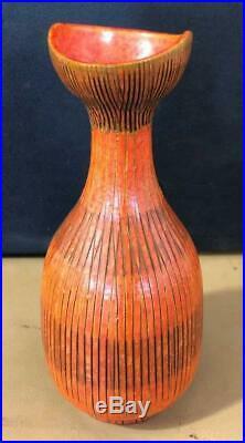 Fine MID Century Modern Aldo Londi 8 Vase 476 Italy Italian Pottery No Damage