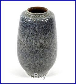 Fine Vintage Paul Eydner German Studio Art Pottery Vase Mottled Gray Glaze