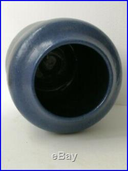 Francis Emma Richards Signed Vase 1926 Stoneware Blue Glaze Studio Pottery