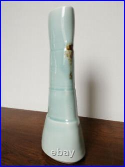 Fritz Rossmann Porzellan Vase Studiokeramik Seladon German Studio Pottery