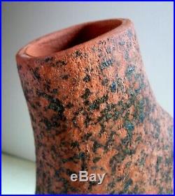 GEOFFREY EASTOP Stoneware Studio Pottery VASE. 32cm Organic Form
