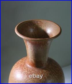 GUNNAR NYLUND Large studio stoneware vase Rorstrand Sweden 1950s