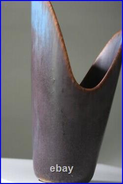 GUNNAR NYLUND Studio stoneware vase ARZ Rorstrand Sweden 1950s