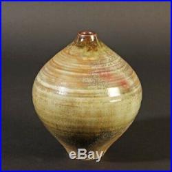 Görge Hohlt Katzbach Studiokeramik art pottery kugelige Vase Ringdekor
