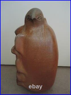 Große Studiokeramik, French Art Pottery, Vogel, ANNIE MAUME, geb. 1945, perfekt