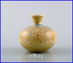Gustavsberg Studio Hand. Miniature vase. Beautiful glaze in bright earth shades