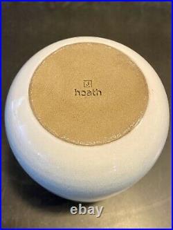 Heath Ceramics Studio Design Series 2 Neck Vase, Celadon & White Gradient RARE