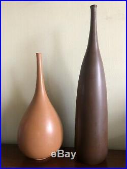 Herb Herbert Cohen Mid Century Modern Studio Pottery Stoneware Vase Vessel N. Y