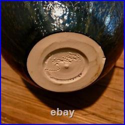 Hideaki miyamura pottery, vessel, black graphite with gold glaze, signed
