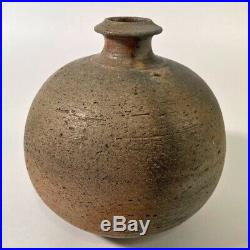 Horst Kerstan Kandern Studiokeramik art pottery dicke Vase Holzbrand japanisch