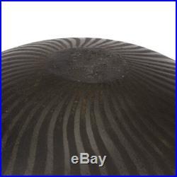 Ilona Sulikova Raku Fired Black Studio Pottery Vase 20th C
