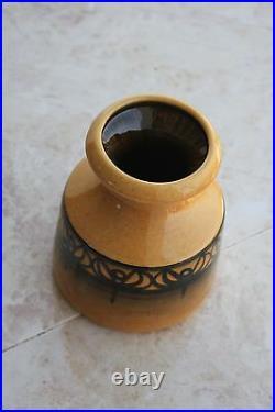 Israel Beit HaYotser Kazrin Art Studio Hand Painted Ceramic Pottery Vintage Vase