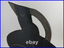 JUDE JELFS British Studio Art Pottery Signed Female Form Vase Jug Femme Fatale