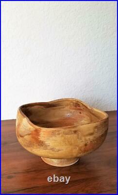 Japanese Ikebana Sculptural Mid Century Modernist Studio Pottery Pedestal Vase