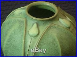 Jemerick Arts & Clay Co Pottery Matte Green Vase -signed Dated 1999