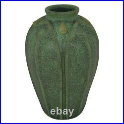 Jemerick Pottery Olive Green Arts And Crafts Vase