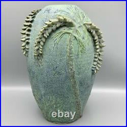 Jemerick Signed 13 Arts & Crafts White Pine Pottery Vase Vessel Gruebyesque