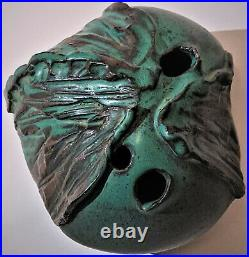 Joel Edwards Studio Art Pottery 3 Hole Vase Vintage FreeForm Voulkos 50s Signed