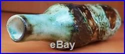 John Beusman Rare Green Borax Carn Pottery Bottle Vase Cornish Troika Era 1960s
