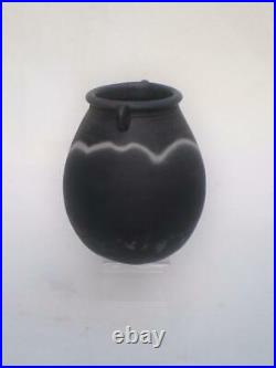 John Leachstudio Potteryblack Moodsack Vaseexhibition Piece