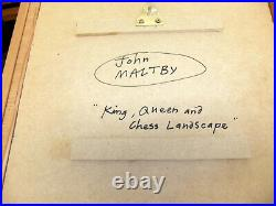 John Maltby King Queen and Chess Landscape