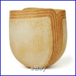 John Ward Studio Pottery Vase With Shaped Rim 2012