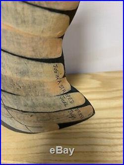 Jude Jelfs British Modernist Studio Pottery Figural Vase Jug in a Striped Dress