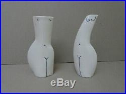 Jude Jelfs. British Studio Pottery. Pair of modernist figural vases. Porcelain