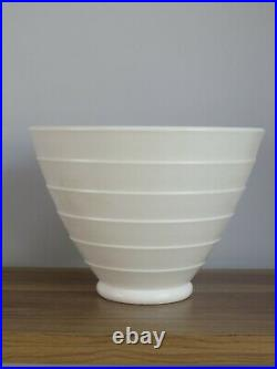 KEITH MURRAY for WEDGWOOD A MOONSTONE BOWL CONICAL GREAT SHAPE STUDIO POTTERY