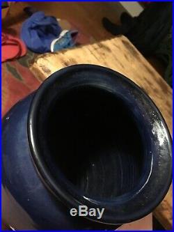 Karen Howell Pottery Vase RABBITS IN MOONLIGHT Bunny Rare signed
