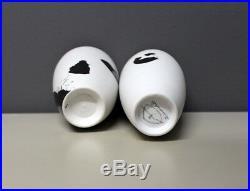 Karin Bablok Studiokeramik Zwei Porzellan Vasen Gedreht German Studio Pottery