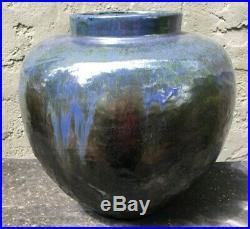 Large Bulbous Fulper art pottery vase