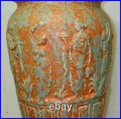 Large Crooksville Burley-Winter Art Pottery Classical Floor Vase 16 3/4