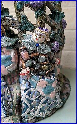 Large Jane Peiser Pottery Sculpture / Vase North Carolina