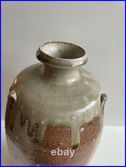 Large Phil Rogers Studio Pottery Bottle Vase. Fabulous