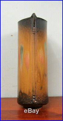 Large Richard Aerni Stoneware Vase Modernist Abstract Studio Art Pottery