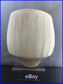 Large Stunning Early Joanna Constantinidis Fluted Studio Vase