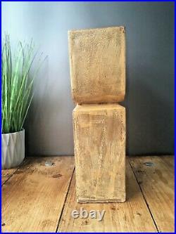 Large Unknown Studio Pottery Textured Vase 70's 60s MID Century Abstract Cornish