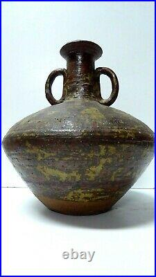 Les Blakebrough Australian Sturt Studio Pottery Exhibition Piece Vase Vessel