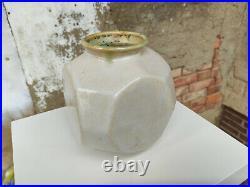 Liebfriede Bernstiel Eckige Studiokeramik Vase German Studio Pottery 1974