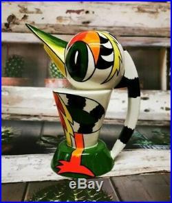 Lorna Bailey Woodpecker Teapot Jug Vase Studio Art Pottery Bird