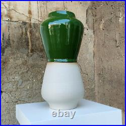 Lutz Könecke Hohe Vase Studiokeramik Chrom Glasur German Studio Pottery Keramik