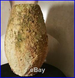 MARCELLO FANTONI mcm brutalist vtg studio art pottery vase italian sculpture