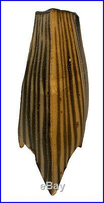 MICHAEL SIMON Salt Glazed Tripod 3 Legged Vase Studio Art Pottey Chop Mark 8.5