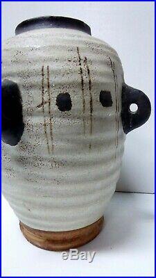 MID Century Italian Pottery Ceramic Vase Vintage Bitossi Studio Art Pot
