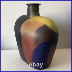 MID Century Modern Studio Pottery Vase -signed- 1960s Vintage Ceramic