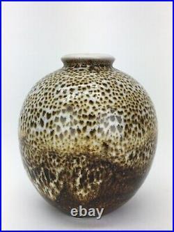 Maija Grotell Mid Century Modern Glazed Stoneware Vase Cranbrook Academy 1950s