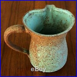 Marguerite Wildenhain Pond Farm Pottery Incised Turquoise Pitcher Vase Frans